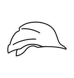 Hardhat icon outline style vector