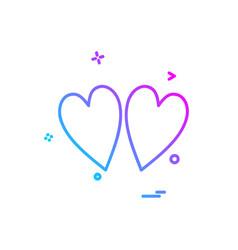 heart icon design vector image