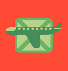 Icon in flat design for airport airplanes flight vector