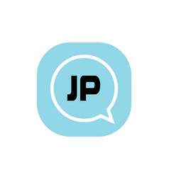 initial letter logo jp template design vector image
