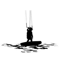 kiteboarder silhouette vector image