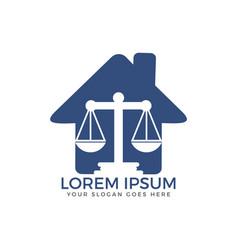 Law house logo design vector