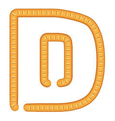letter d bread icon cartoon style vector image