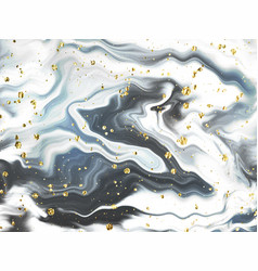 Liquid abstract marble painting background print vector
