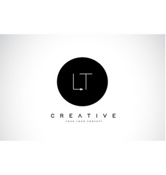lt l t logo design with black and white creative vector image