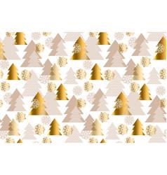 luxury light xmas tree seamless pattern vector image