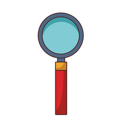 Magnifying glass cartoon vector