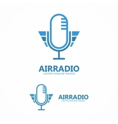 microphone icon or logo vector image