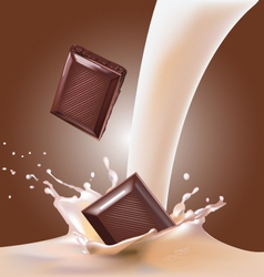 milk and chocolate vector image