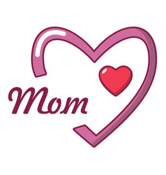mother day icon cartoon style vector image