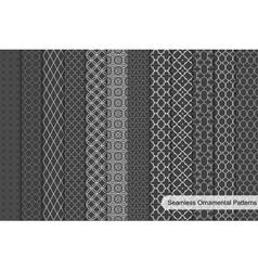 Ornamental seamless patterns vector