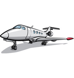 Private jet airplane vector