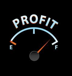 profit meter vector image