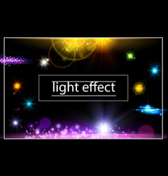 Realistic light effects concept vector