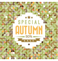 Retro colorfull leafs texture vector image