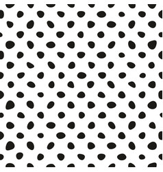 seamless pattern with tile black polka dots vector image