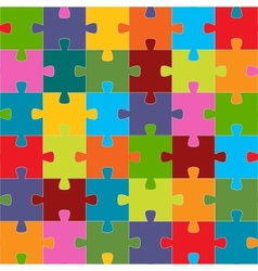 Seamless puzzle texture vector image