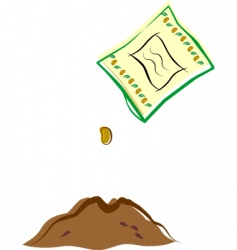 Seed packet and dirt vector