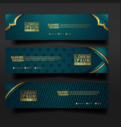 Set banner template design with luxury vector