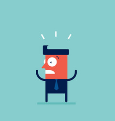 shocked stressed and surprised businessman cartoon vector image