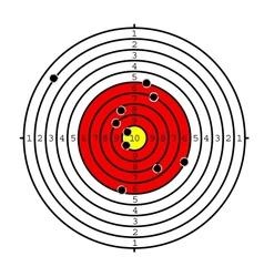 Shooting target vector image