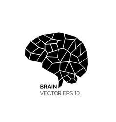 silhouette brain vector image