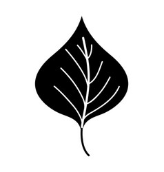 silhouette plant leaf design to natural icon vector image