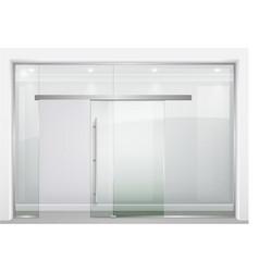 Sliding glass partition vector