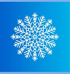 snowflake created from ornamental patterns on blue vector image