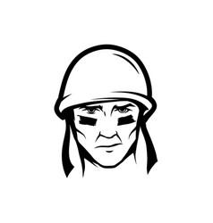 Soldier head vector
