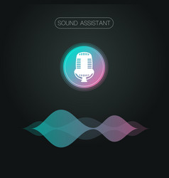 sound assistant background vector image