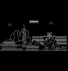 Sudan silhouette skyline city sudanese vector