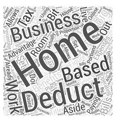 Tax Deductions For Home Based Businesses Word vector