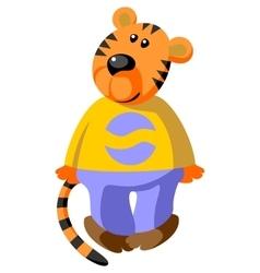 Tiger color 08 vector image