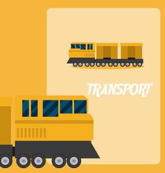 Train transport vehicle vector