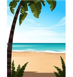 Tropical landscape coast beautiful sea shore vector