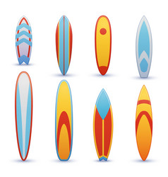 Vintage surfboards with cool graphic design vector