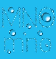 Water Drop Letters On Blue New 05 vector