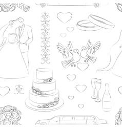 Wedding day pattern vector