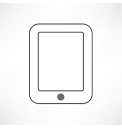 White ipad vector