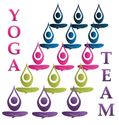 Yoga team icon vector