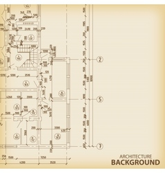 Detailed architectural project vector image