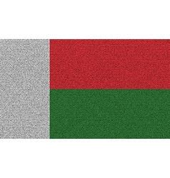Flags Madagascar on denim texture vector image