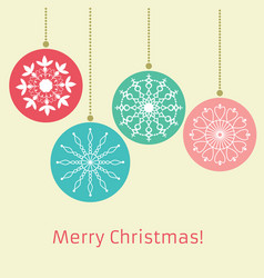 merry christmas and new year retro style vector image vector image