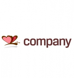 butterfly logo for art company vector image