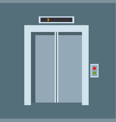 door elevator entrance doorway vector image