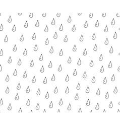 drops hand drawn seamless pattern vector image vector image