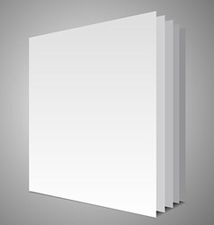Empty book layout vector image vector image