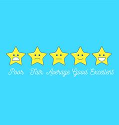 feedback emoticon star scale line design positive vector image