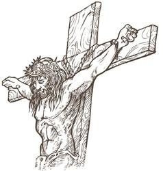 jesus hand draw vector image